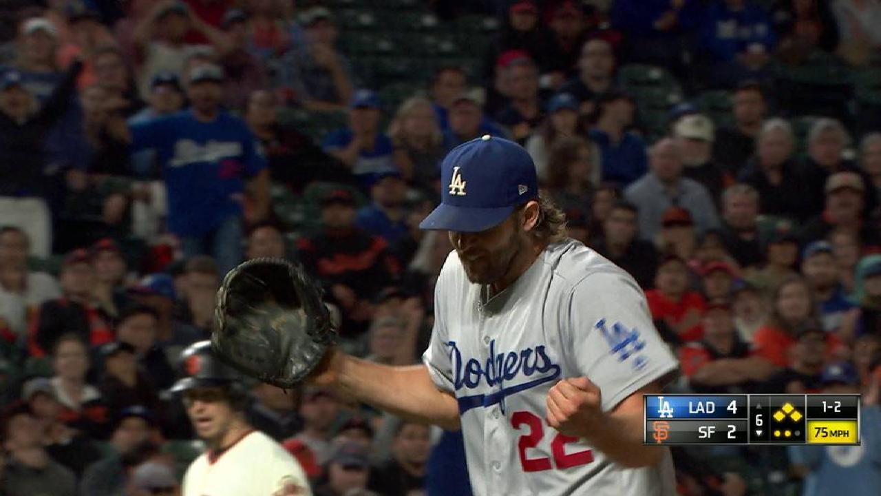 Kershaw strands the bases loaded