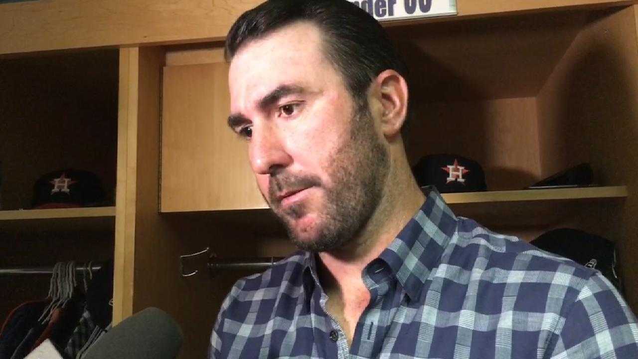 Verlander on eight scoreless