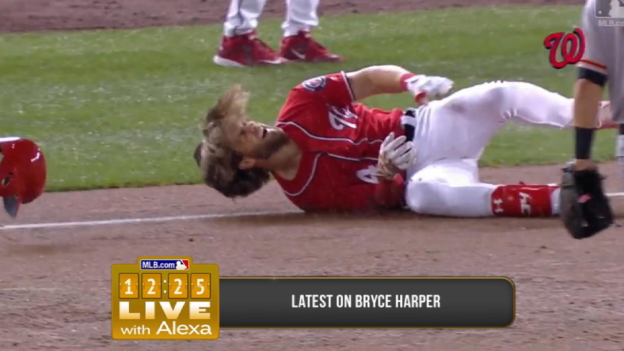 Harper shows signs of progress in knee rehab