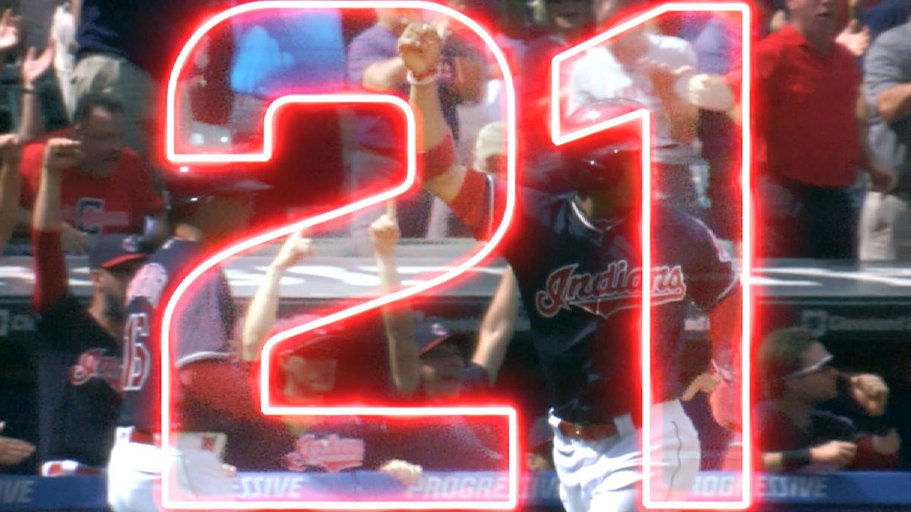 Indians win 21 straight games