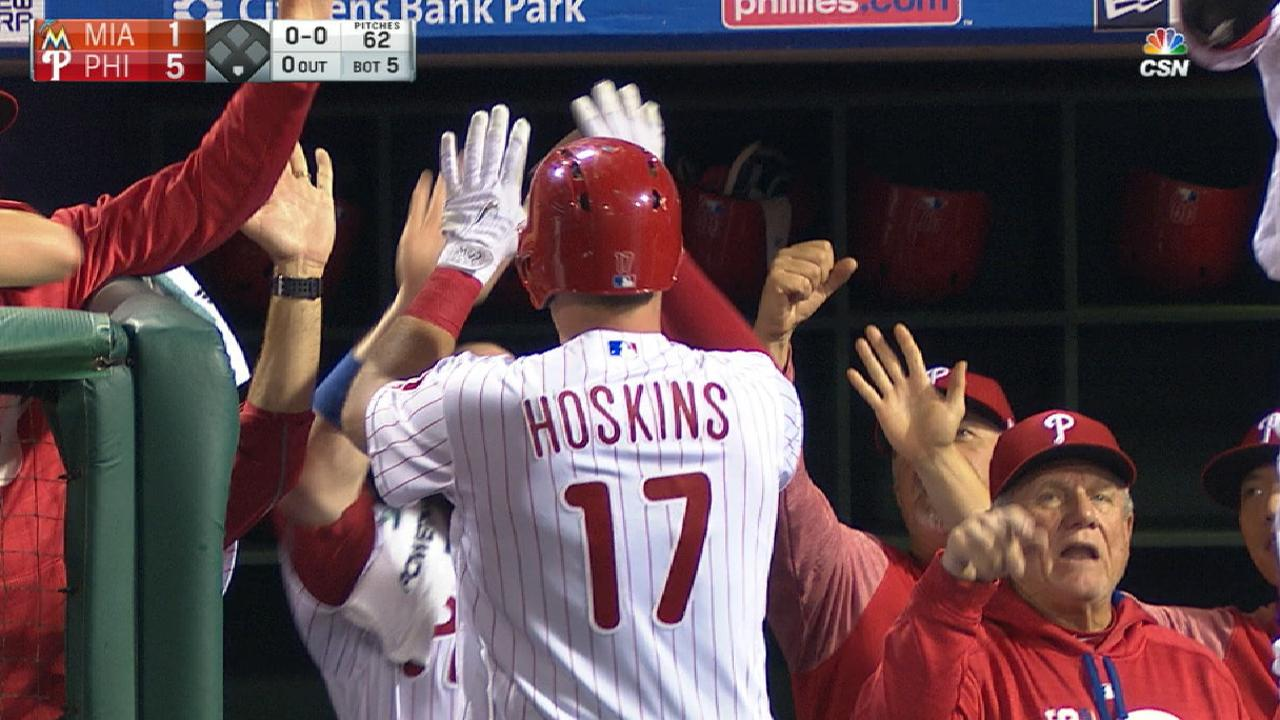 Hoskins' record 17 homers