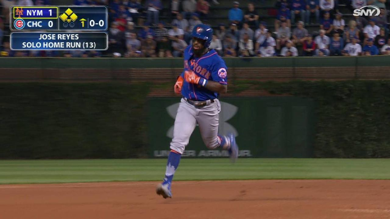 Mets can't stop Cubs after Reyes' leadoff HR