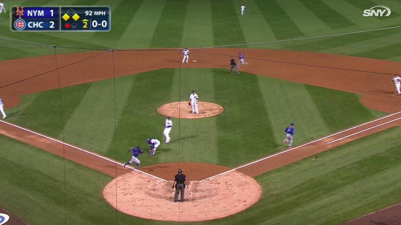 Harvey's RBI sacrifice bunt