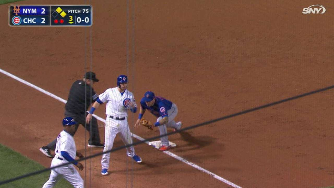 Lagares throws out Happ