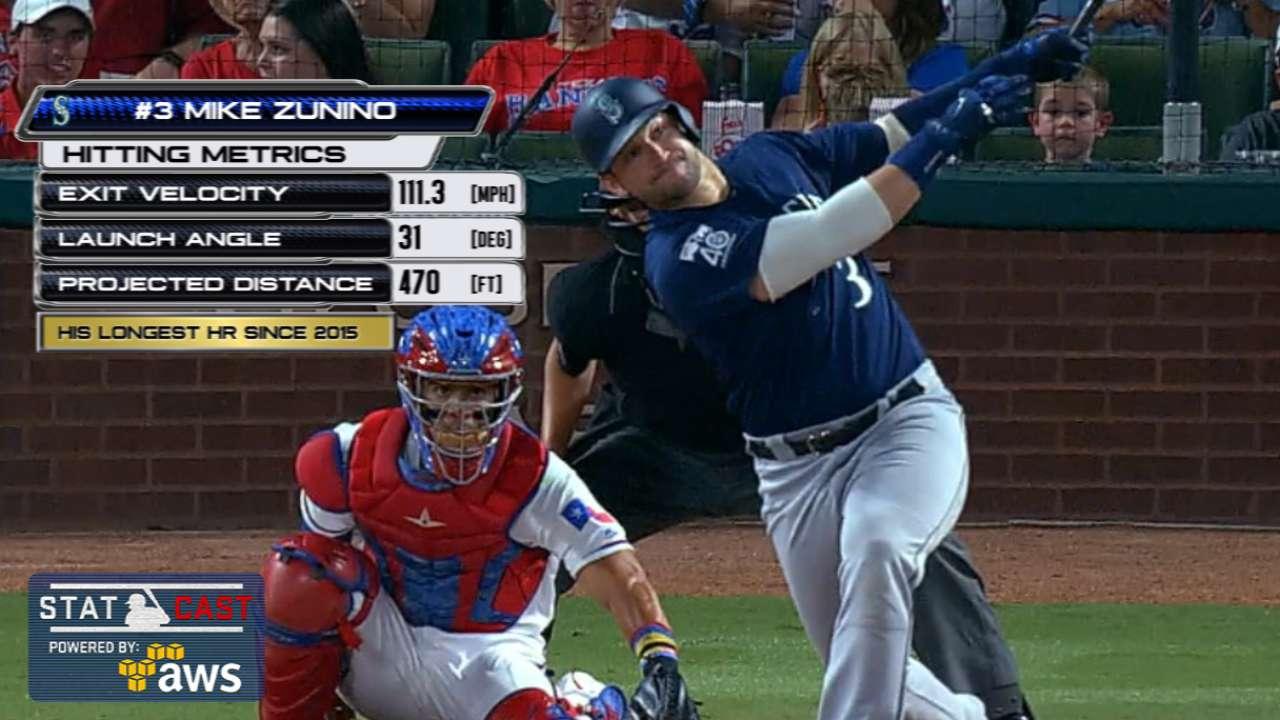 Statcast: Zunino's 470-ft. homer