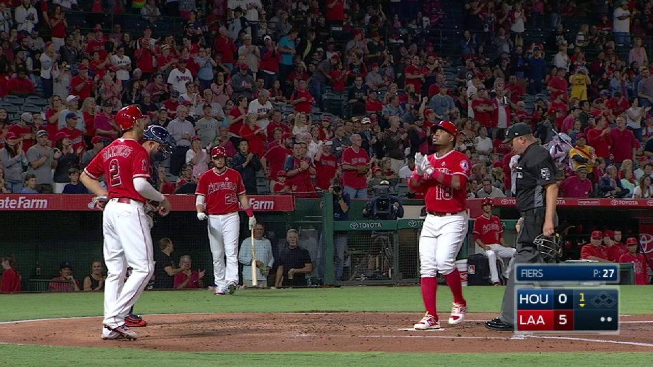 Halos roll past Astros, stay two back in WC