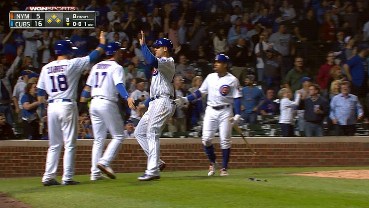 Cubs plate seven runs in 8th