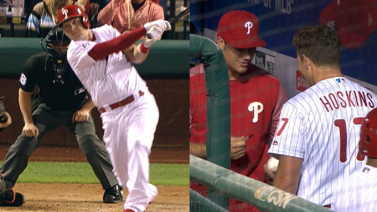 Hoskins continues torrid pace with 18th HR