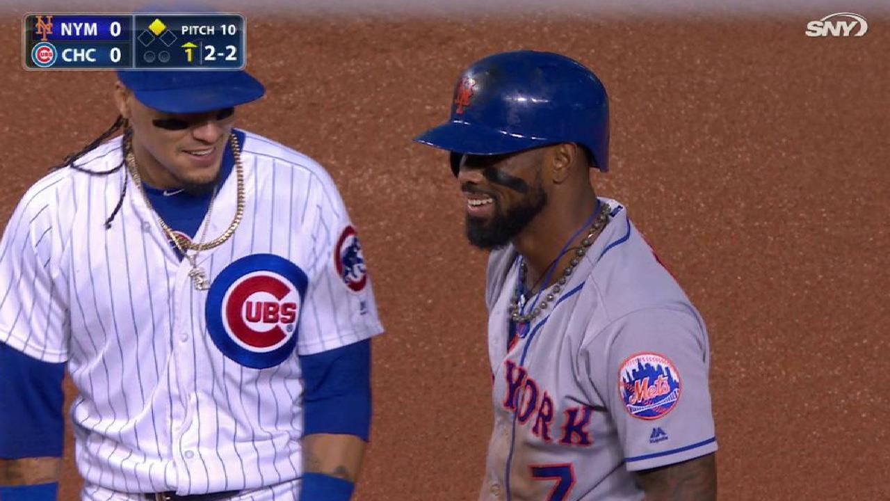 Reyes steals second base