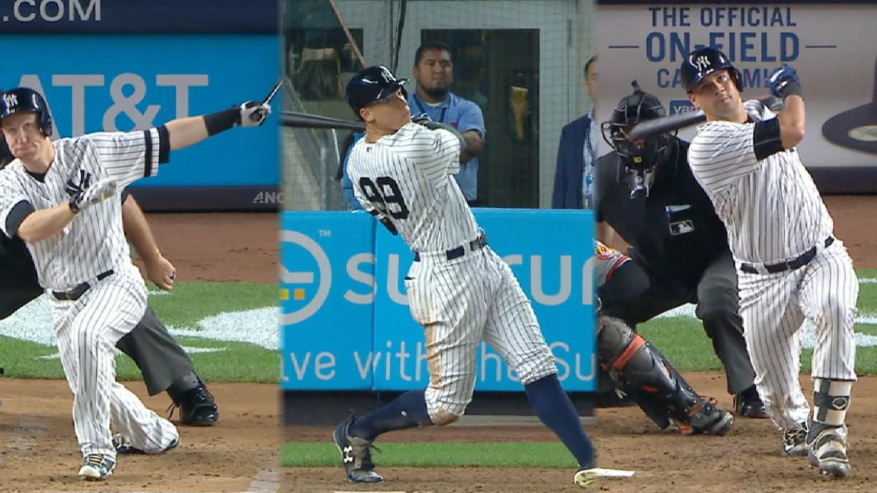 Yankees hit four home runs