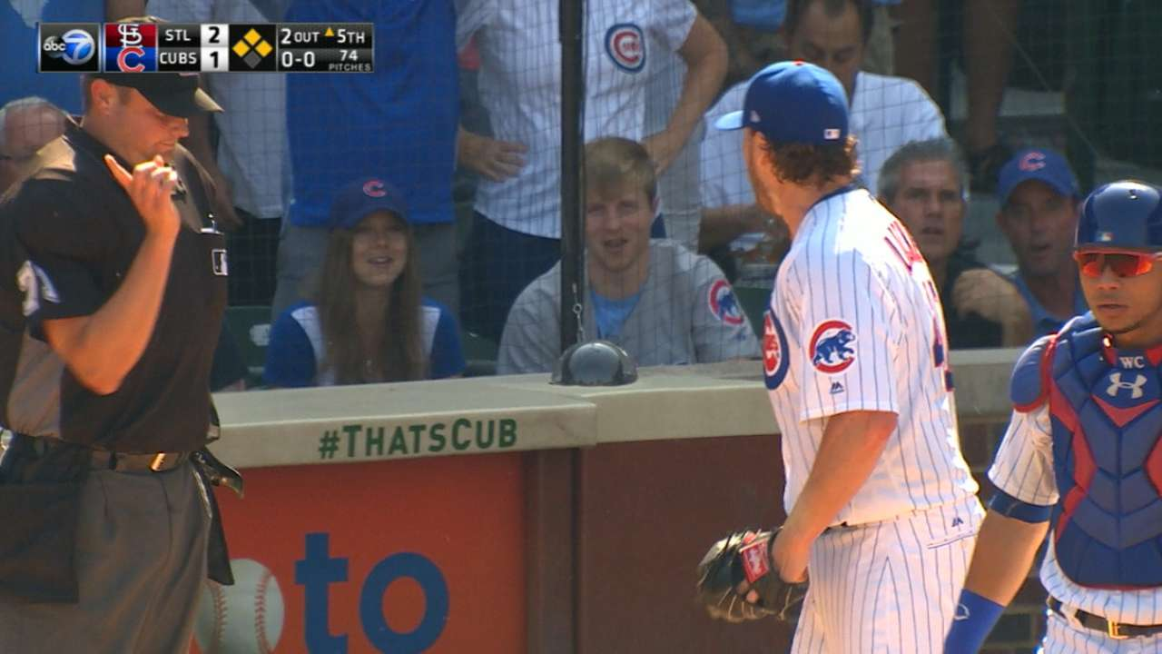 Lackey, Contreras ejected after disputed call