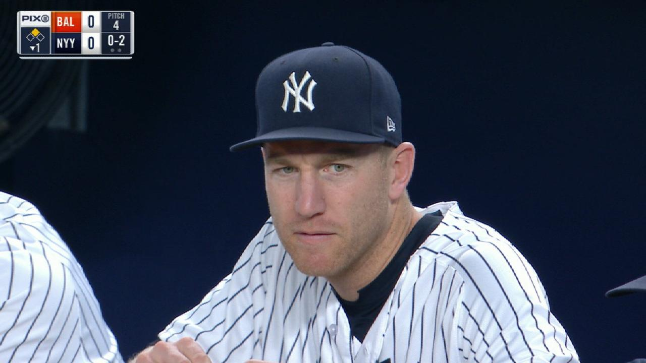 Stiff back forces Frazier out of Yanks' lineup