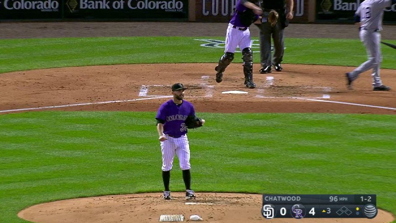Chatwood continues hot streak vs. Padres