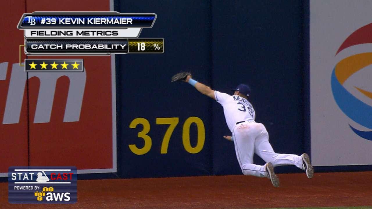 Kiermaier's Gold Glove skills wow Trop crowd