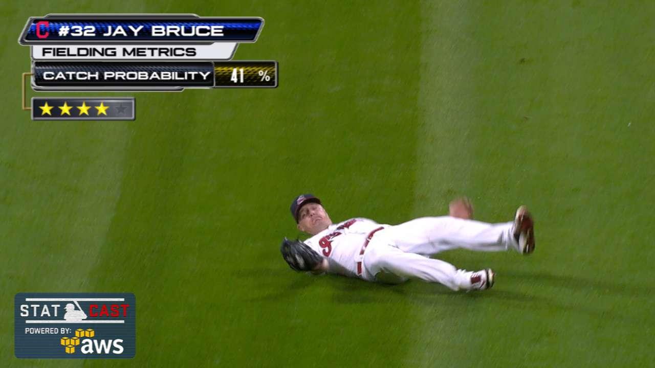 Statcast: Bruce's sliding grab