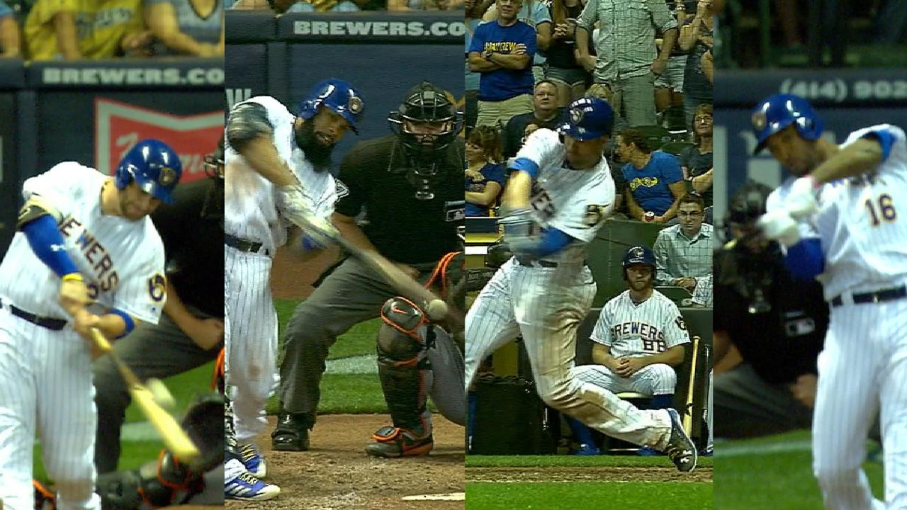 Brewers homer for the cycle