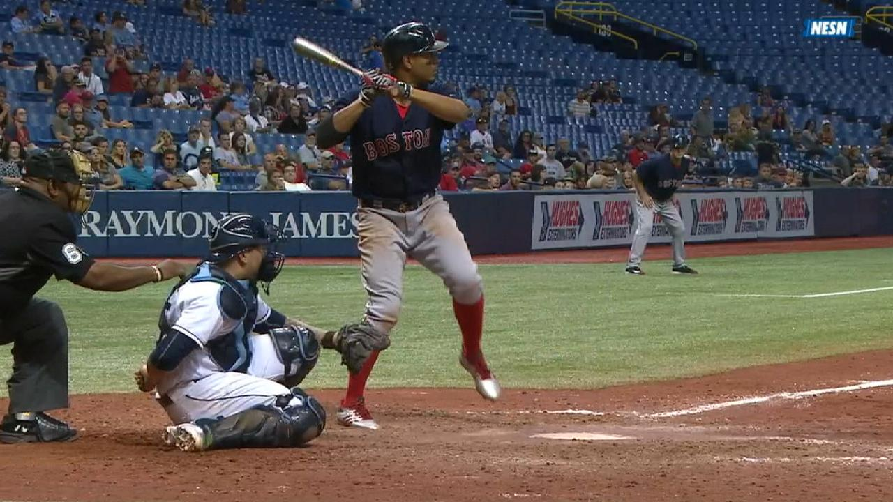 Bogaerts shakes off early HBP, goes 4-for-7