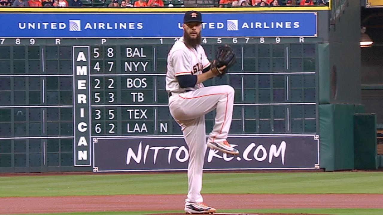 Astros win, magic number at 1