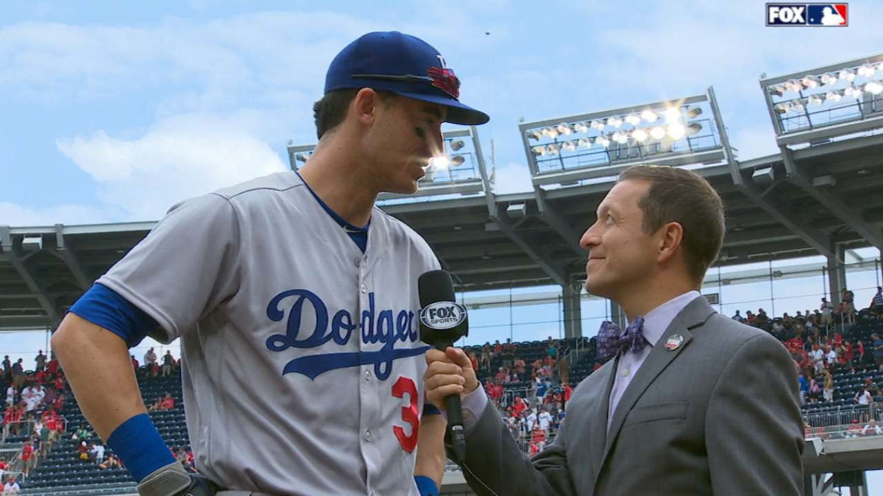 Bellinger on tying rookie record