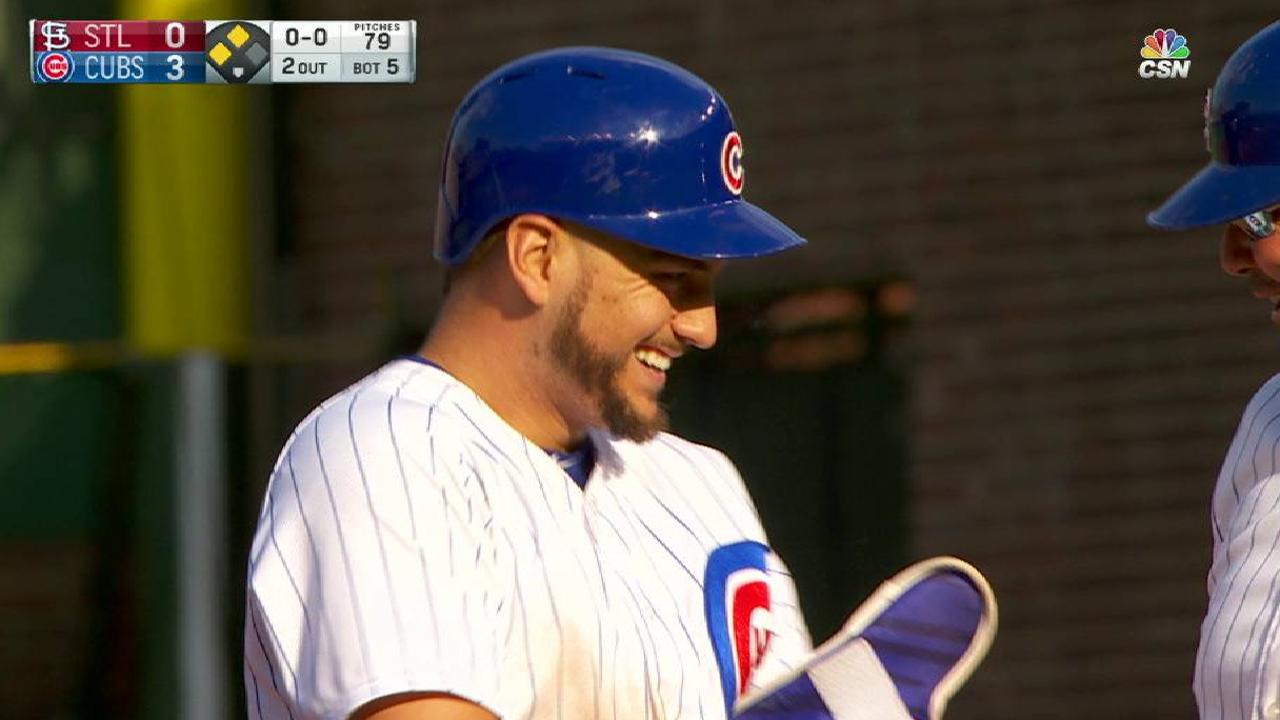 Almora stays hot despite righty-righty matchup