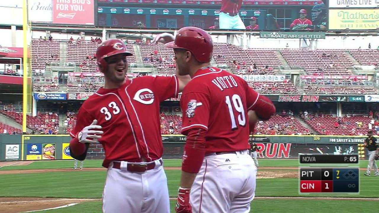 Reds' rally backs Romano in win over Pirates
