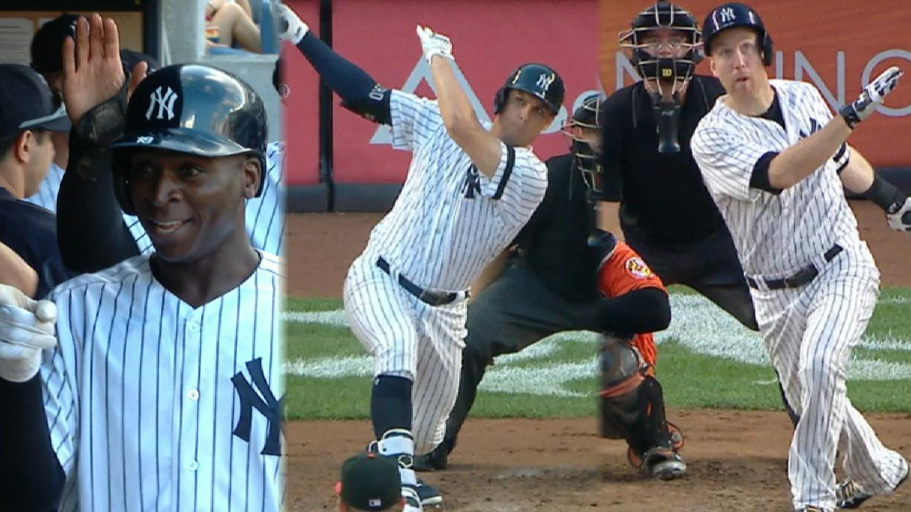 Yankees go yard three times