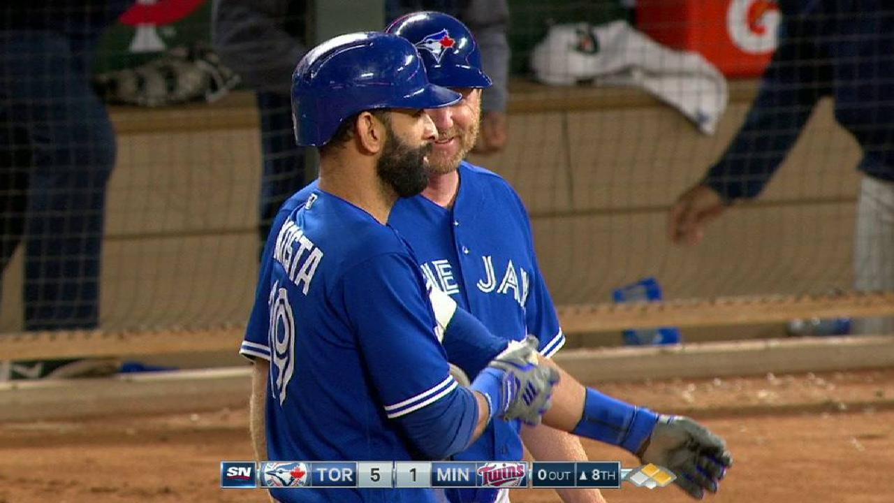 Bautista knocks in two on popup