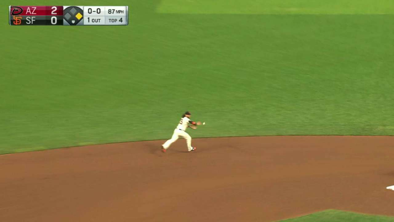 Giants convert double play