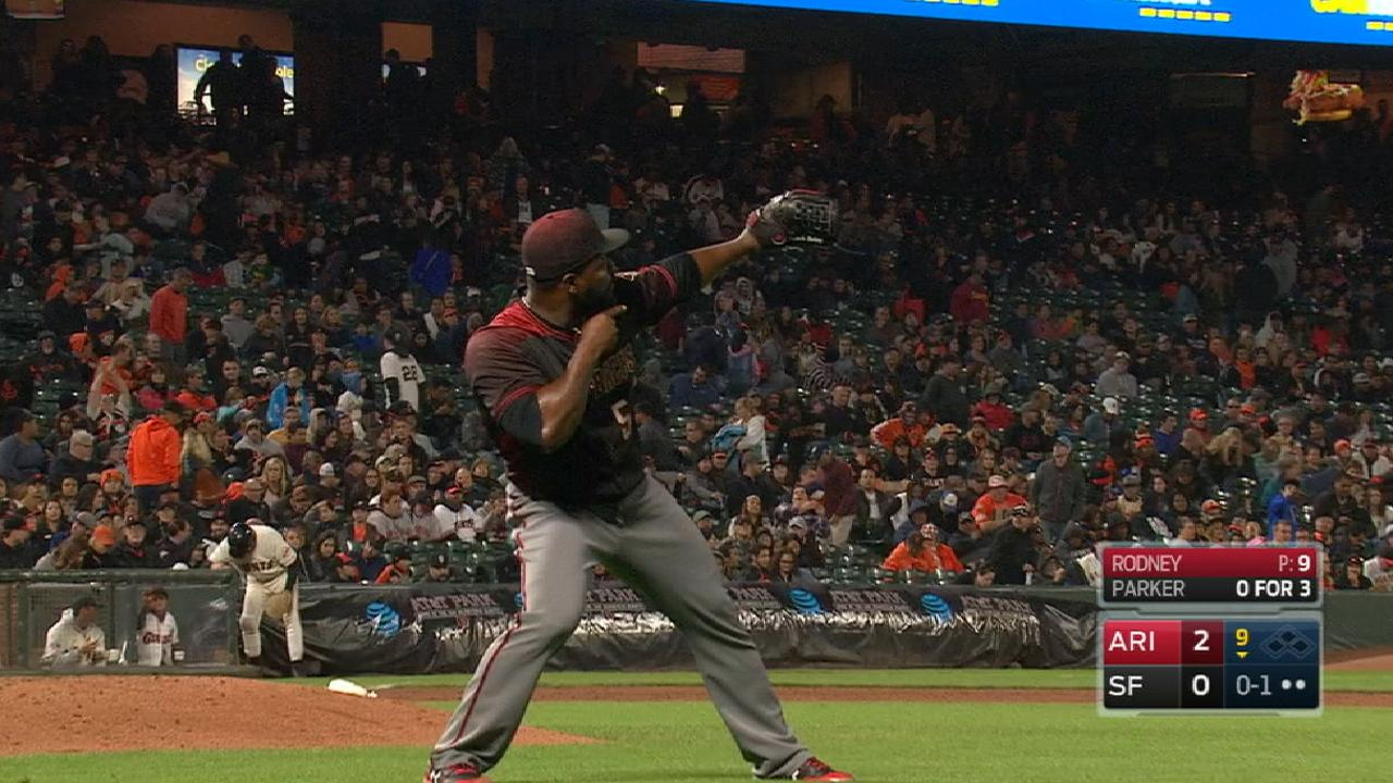Rodney collects 38th save