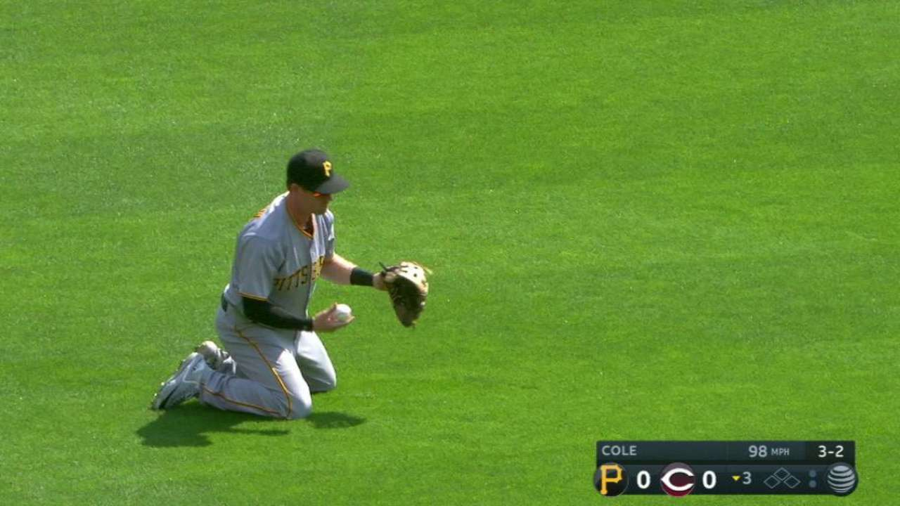 Luplow's diving catch in left