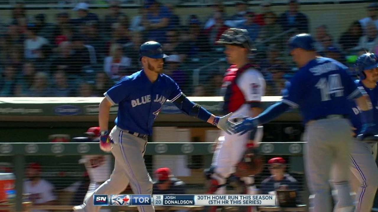 Donaldson's second homer of game