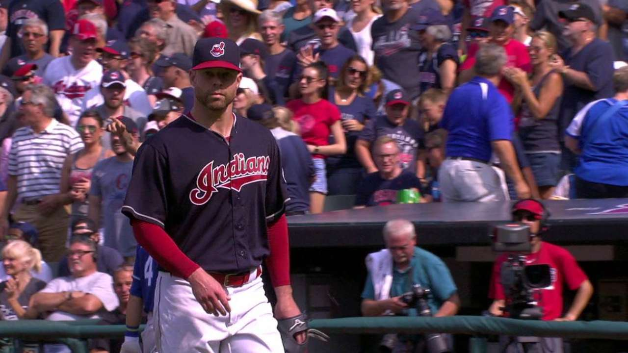Kluber escapes a jam
