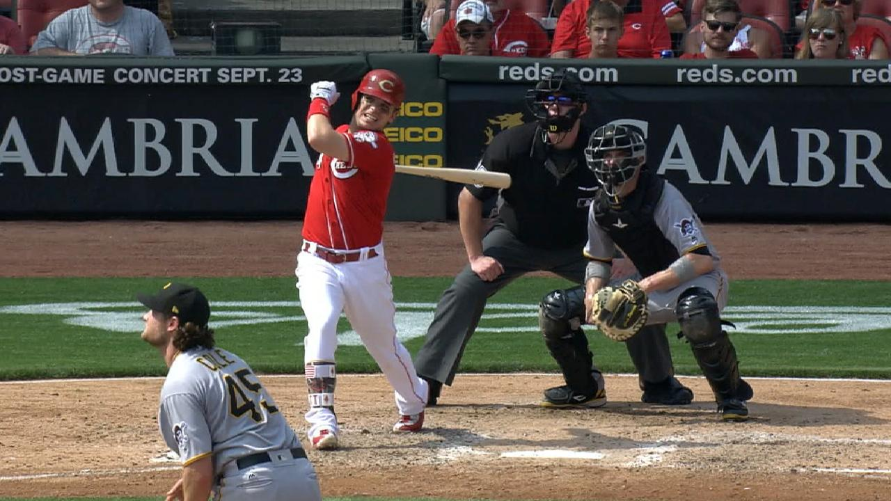 5-run inning lifts Reds to sweep of Pirates