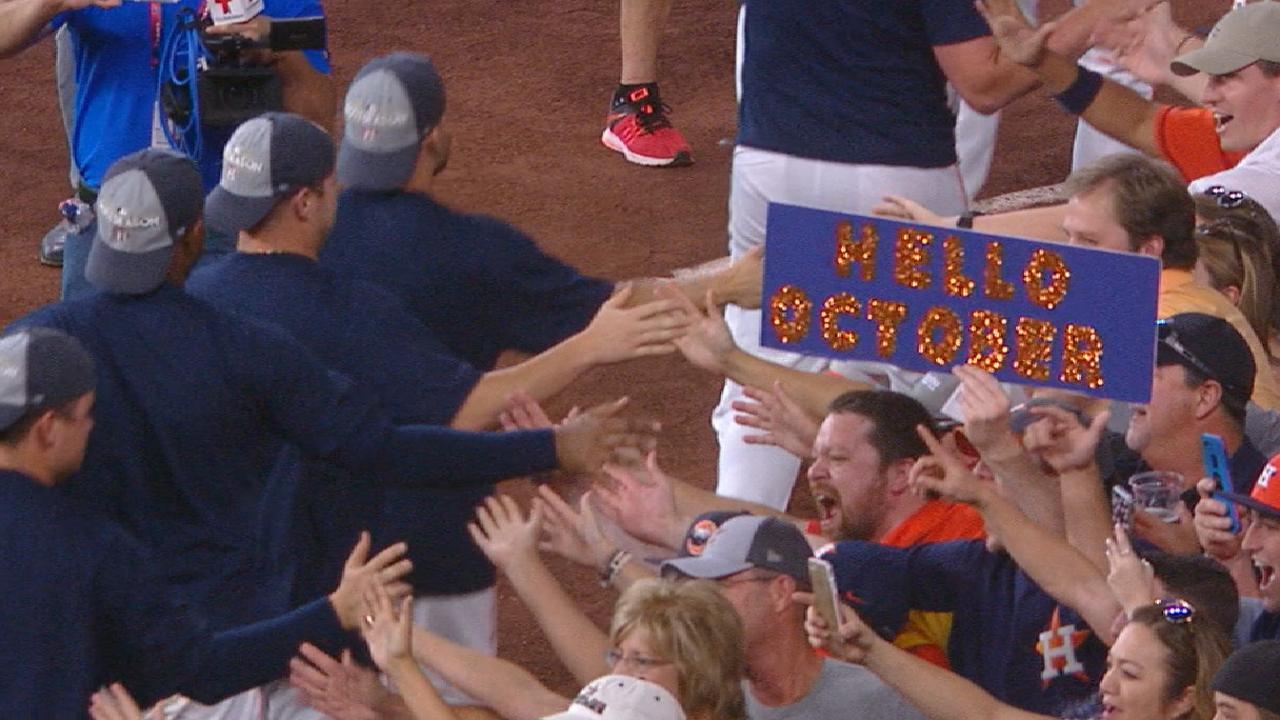 Astros take a victory lap