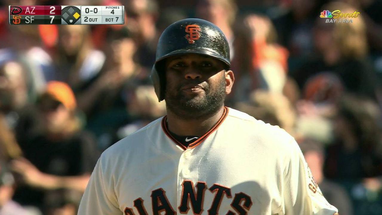 Sandoval's RBI fielder's choice