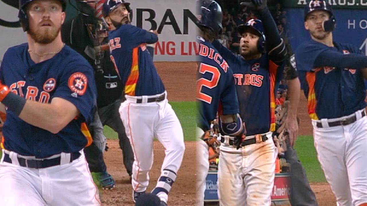 Astros blast four home runs