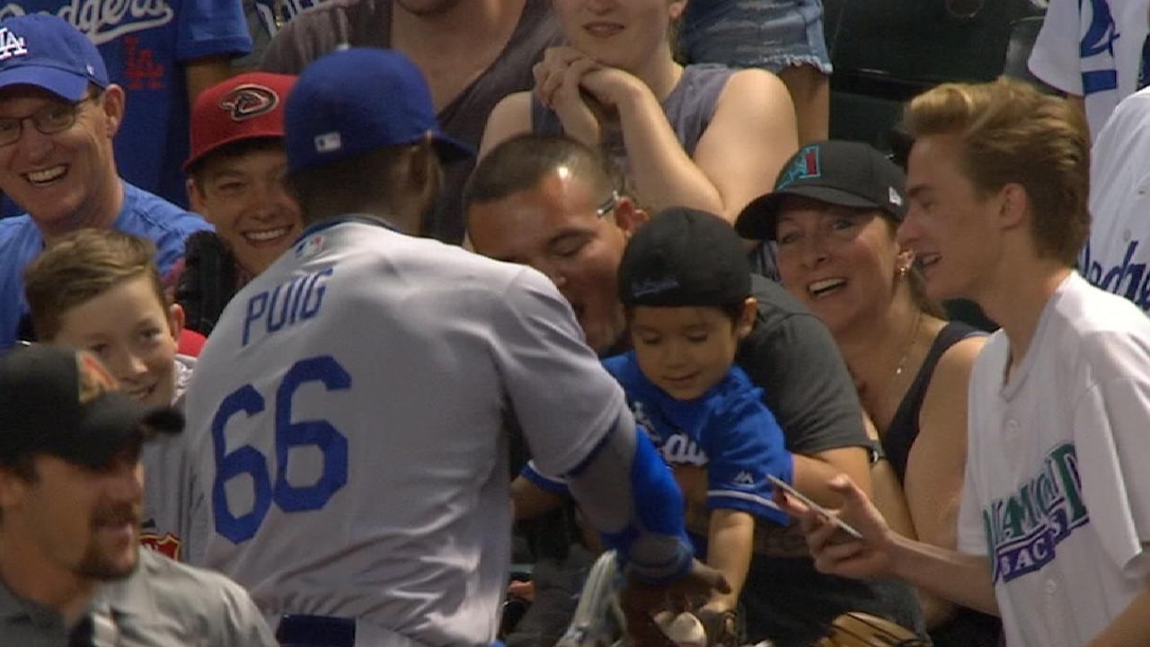 Player-Fan Interaction: Puig