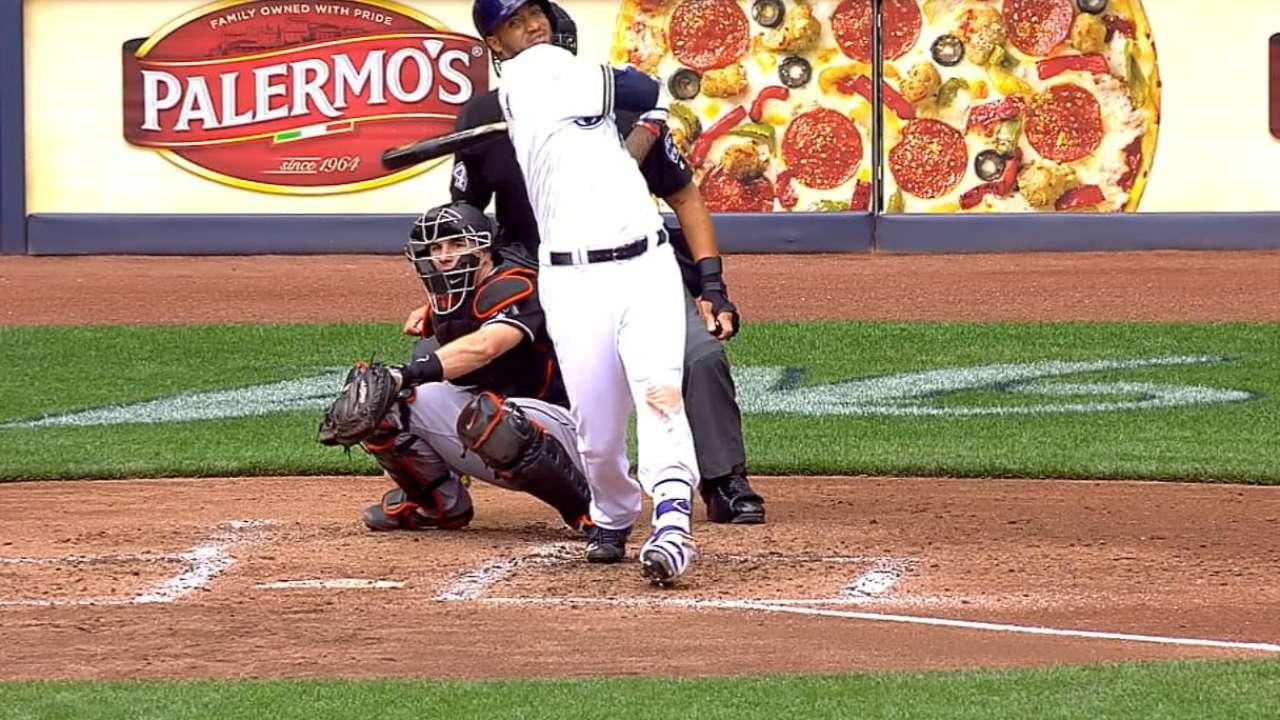 Brewers' eight-run inning