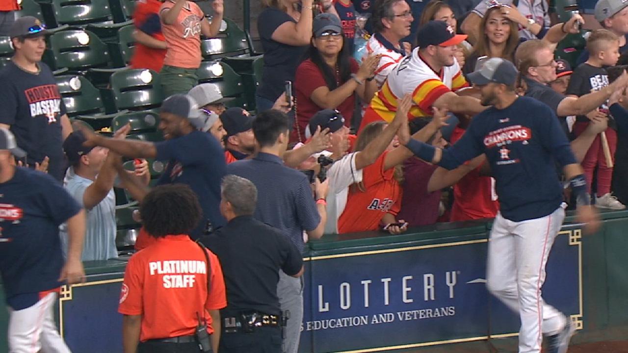 Astros on clinching AL West