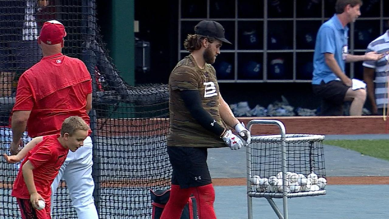 Harper takes BP, aims to return for NLDS