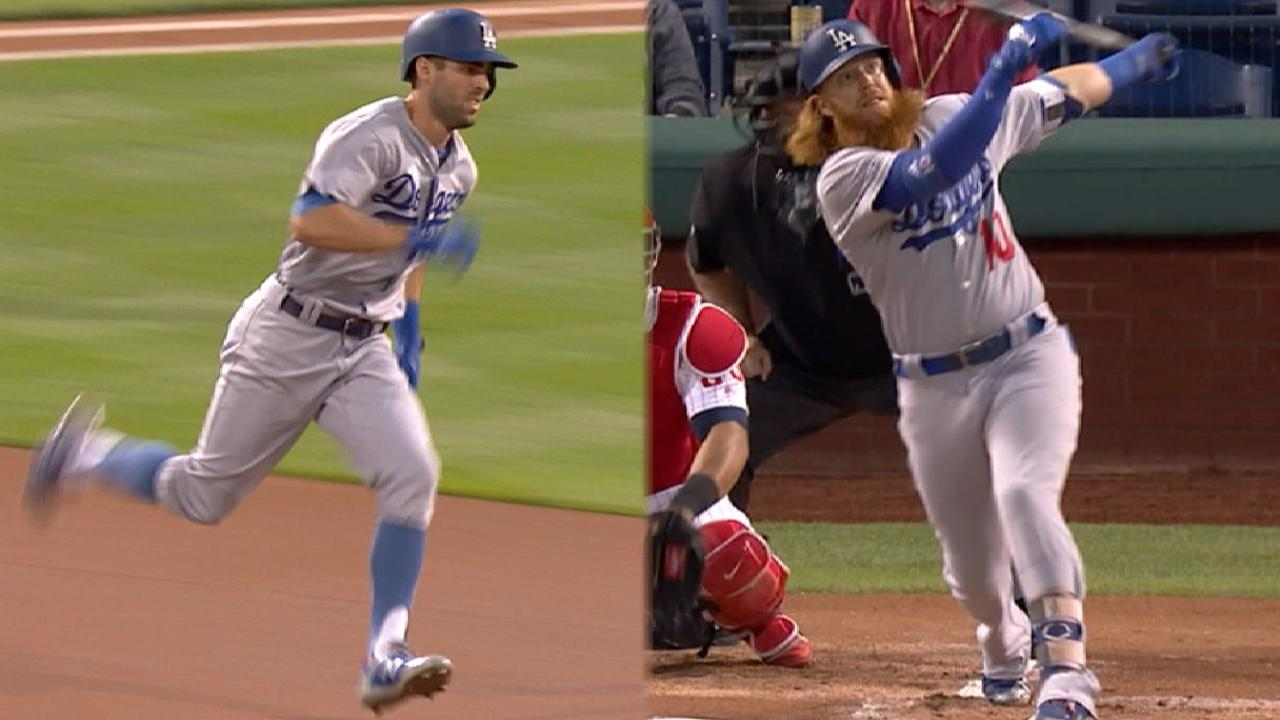 Dodgers open with back-to-back HRs in Philly