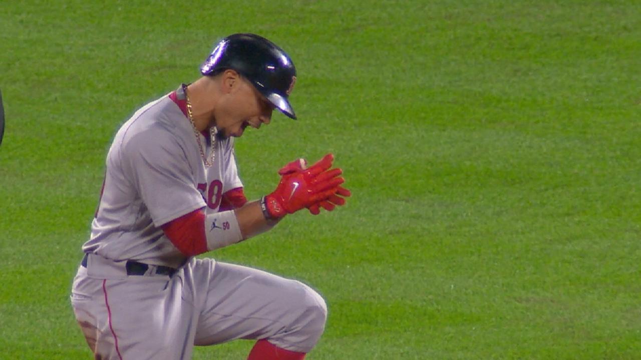 Red Sox's six-run 5th inning