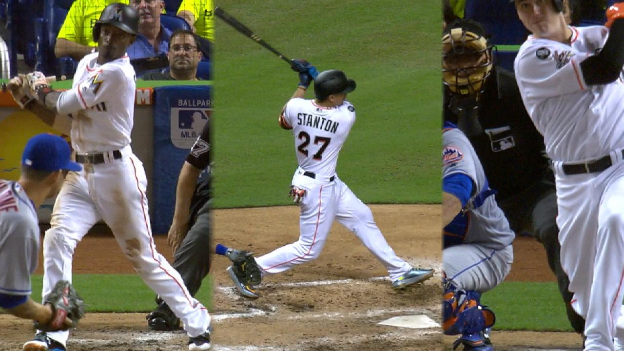 Marlins mash Mets with 7-run 5th, Stanton HR
