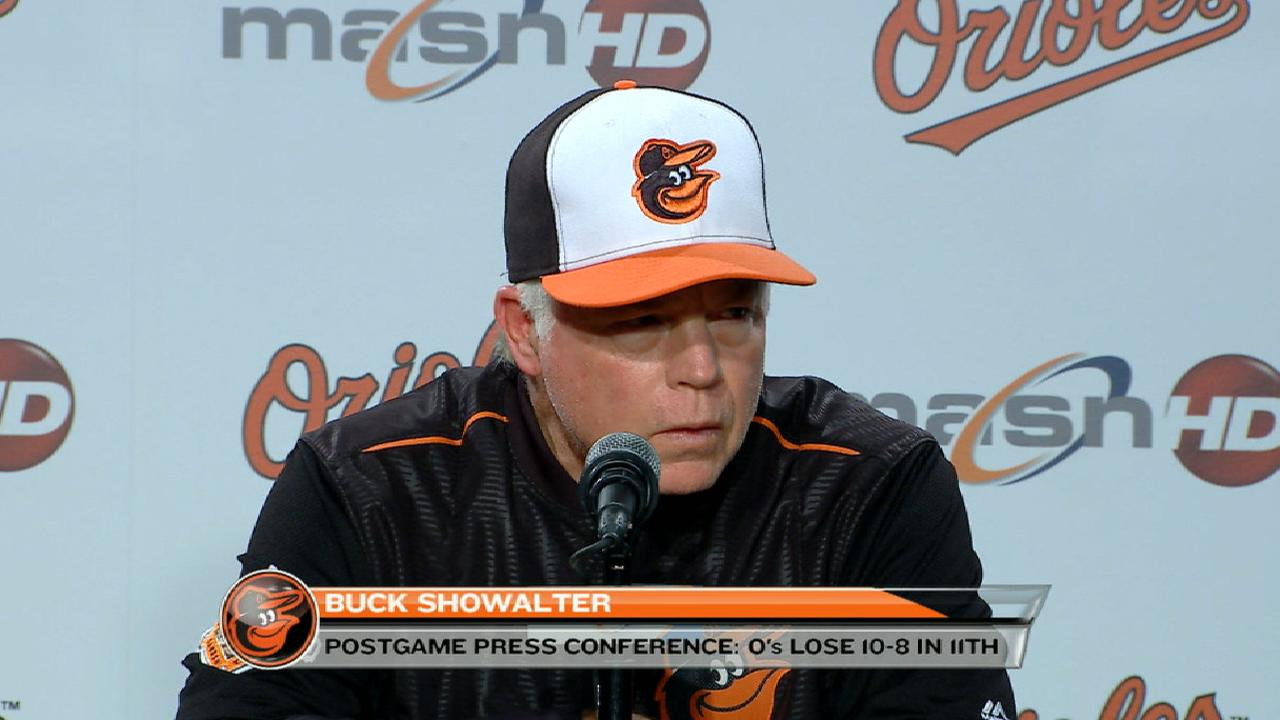 Showalter on loss to Red Sox