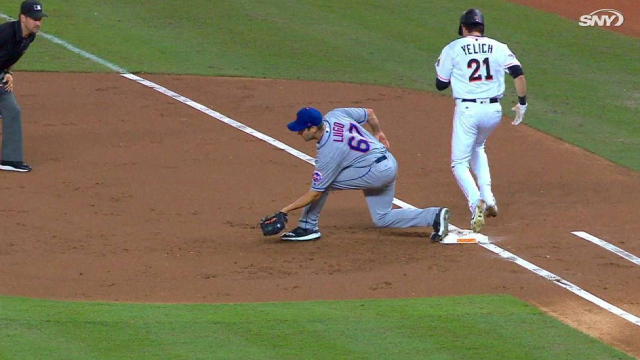 Mets turn two after review