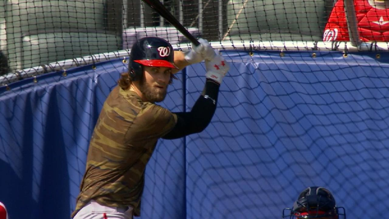 Bryce takes to basepaths, plays in sim game