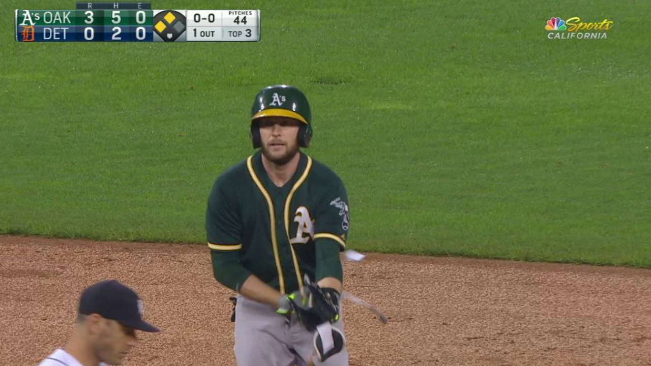 Lowrie's record-tying double