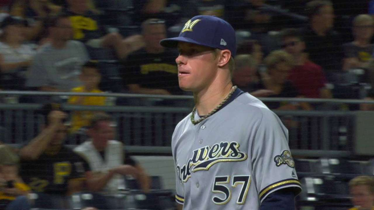 Brewers flex arms again in 'special' sixth frame