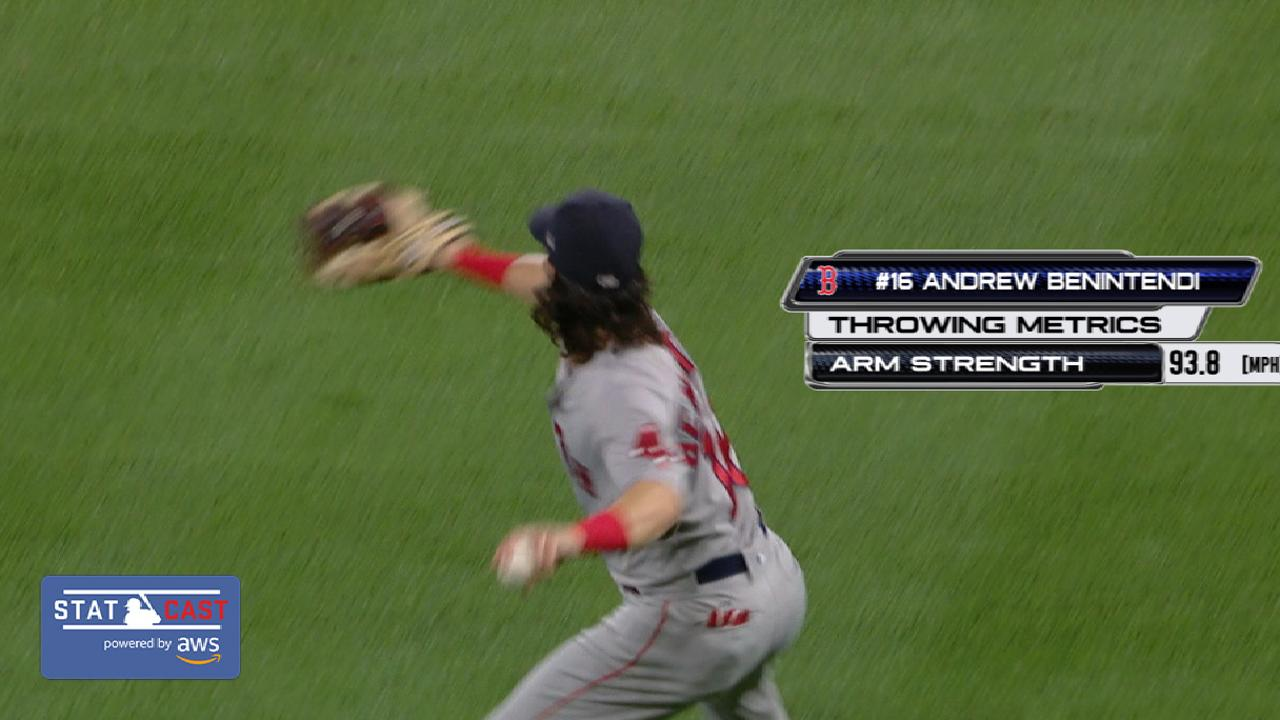 Statcast: Benintendi's throw