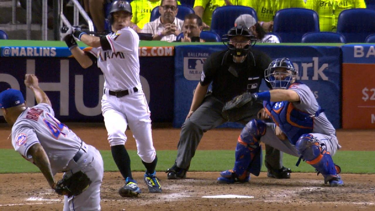 Marlins score three in the 9th